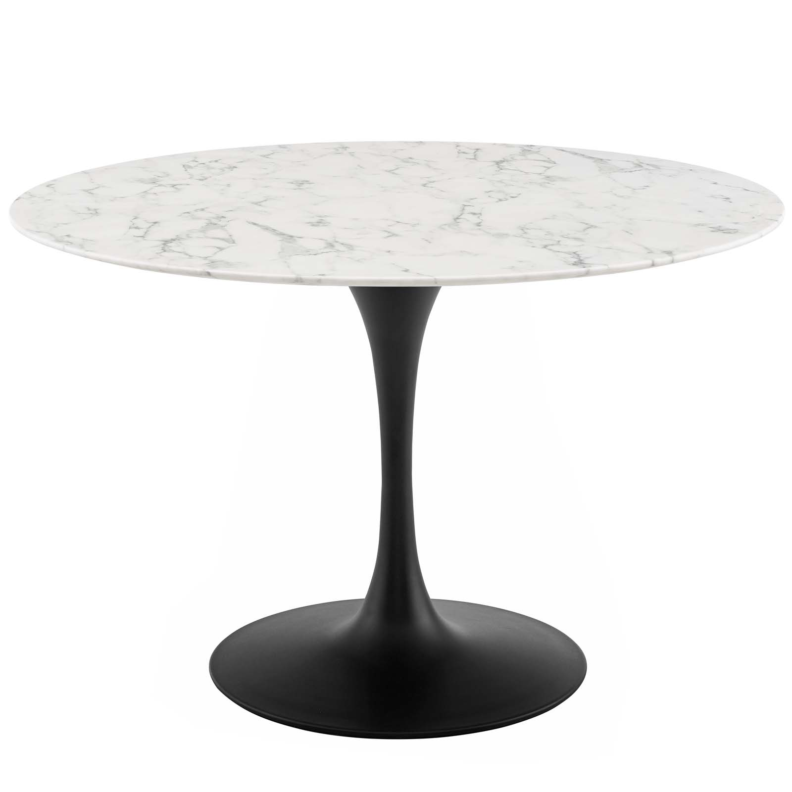 Lippa 47 Quot Round Artificial Marble Dining Table Rose White