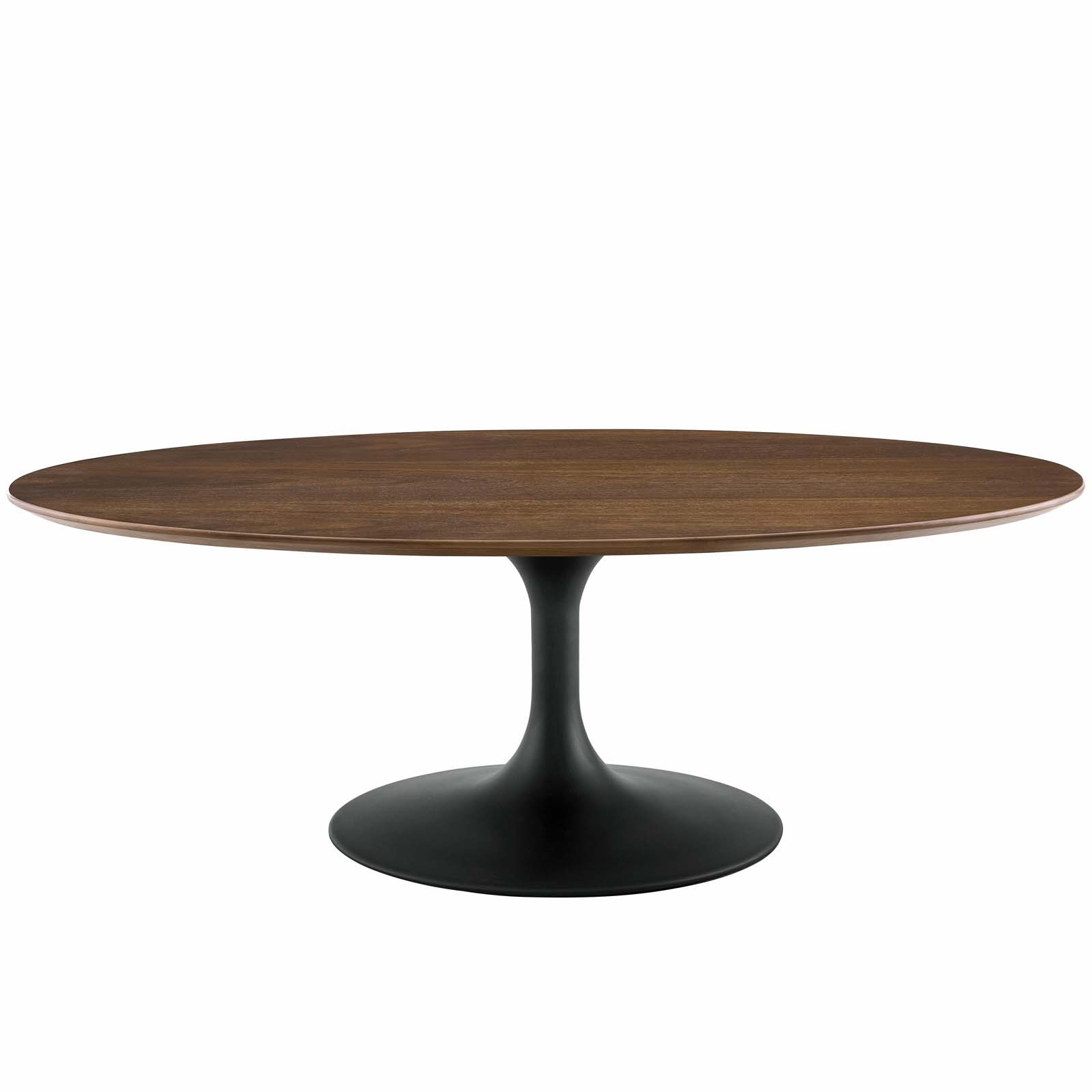 Lippa 48 Oval Shaped Walnut Coffee Table