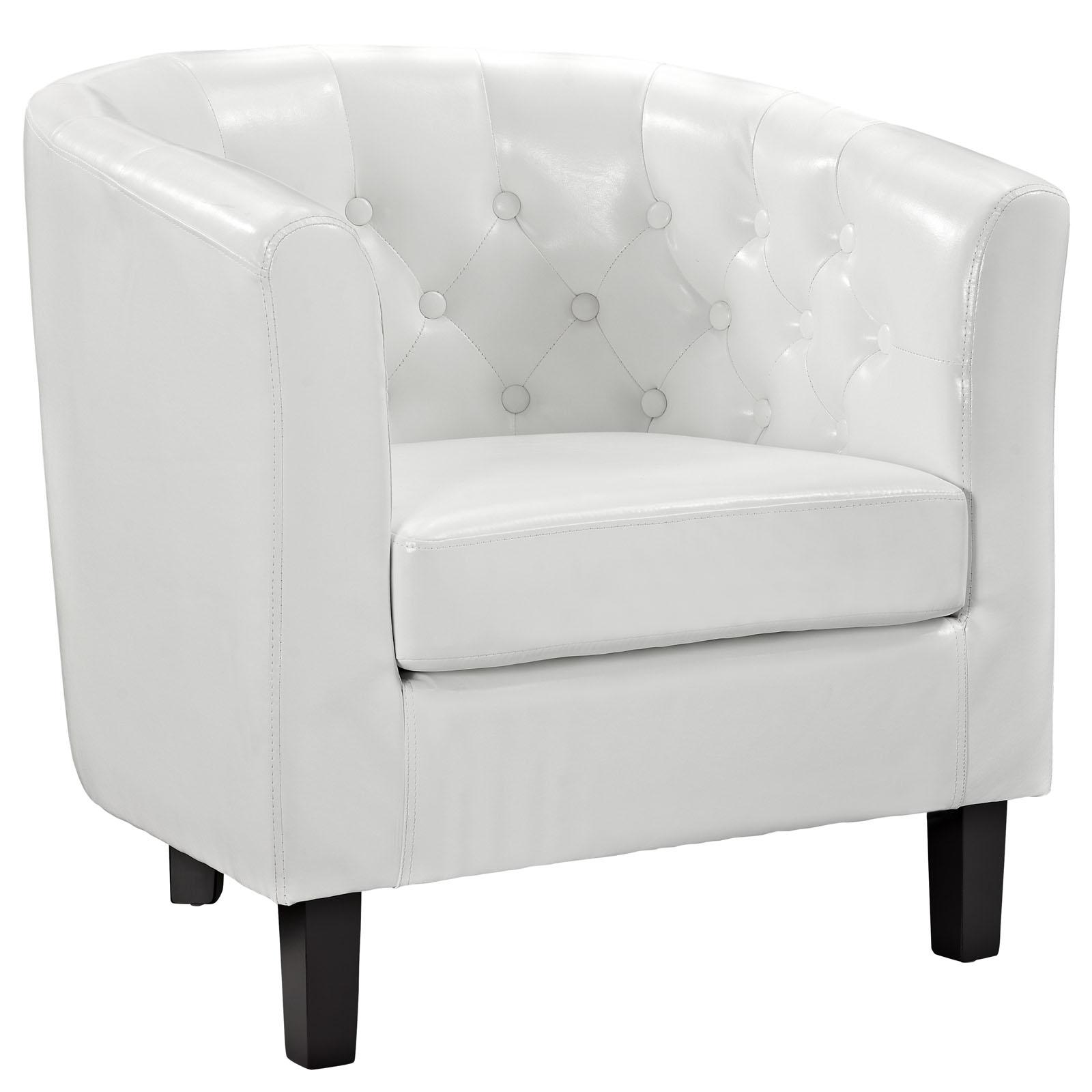 Prospect Upholstered Vinyl Armchair White