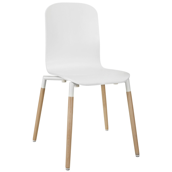 Stack Dining Wood Side Chair White