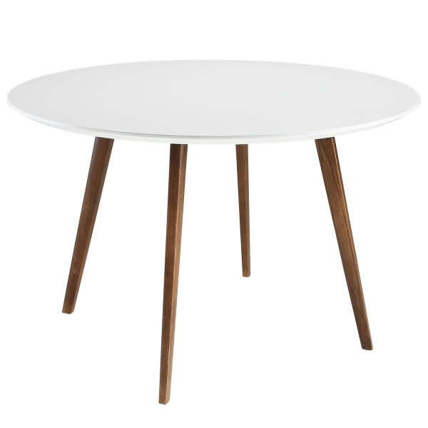 Platter Round Dining Table White