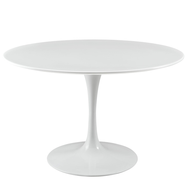 "Lippa 47"" Round Wood Top Dining Table White"
