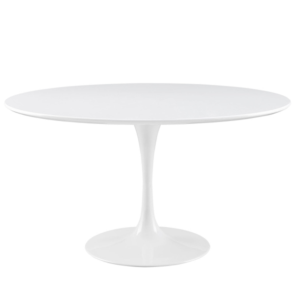 "Lippa 54"" Round Wood Top Dining Table White"