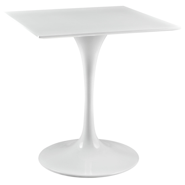 "Lippa 28"" Square Wood Top Dining Table White"