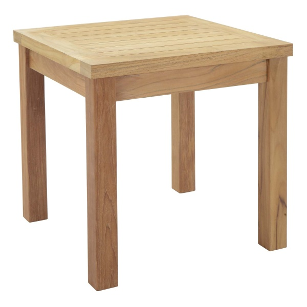 Marina Outdoor Patio Teak Side Table Natural