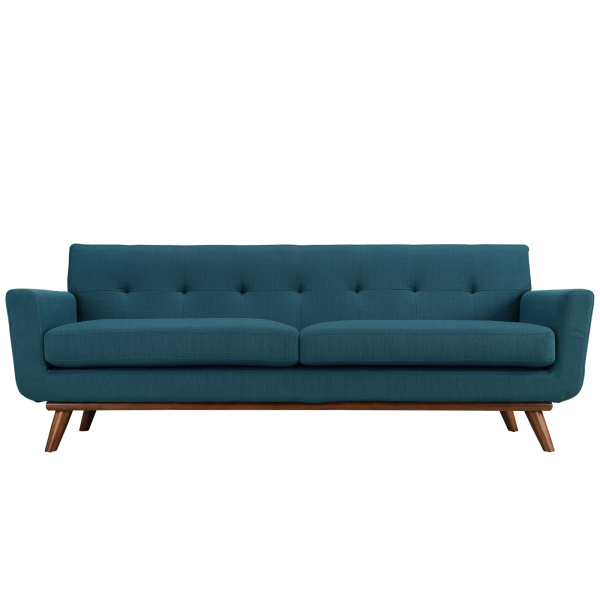 Engage Upholstered Fabric Sofa Azure