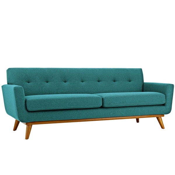 Engage Upholstered Fabric Sofa Teal