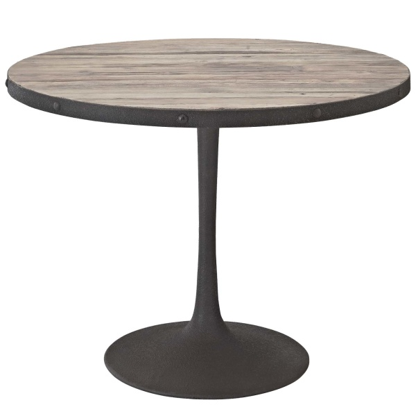 "Drive 40"" Round Wood Top Dining Table Brown"