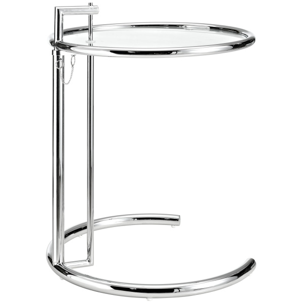 EEI-125-SLV Eileen Gray Side Table