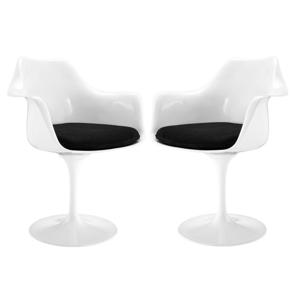 EEI-1259-BLK Lippa Dining Armchair Set of 2 Black