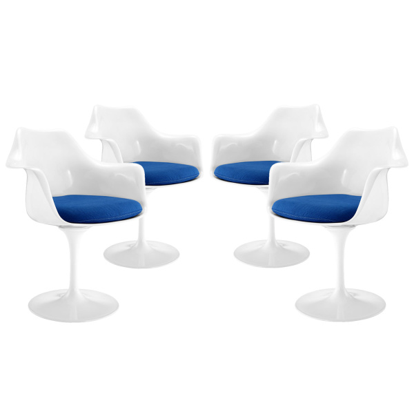 EEI-1260-BLU Lippa Dining Armchair Set of 4 Blue