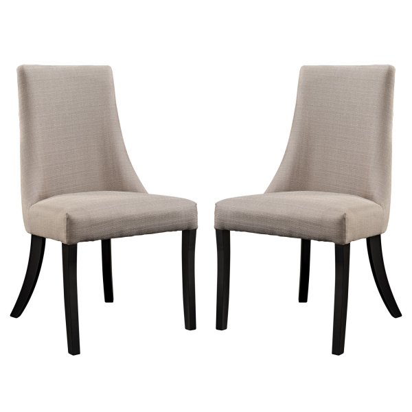 EEI-1297-BEI Reverie Dining Side Chair Set of 2 Beige