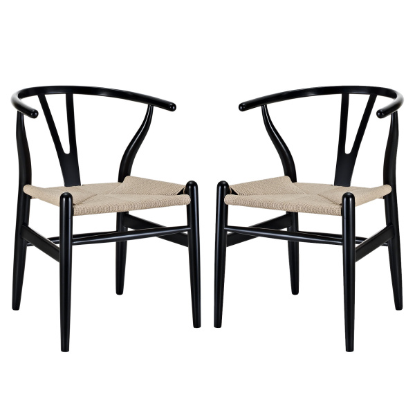 Amish Dining Armchair Set of 2 Black