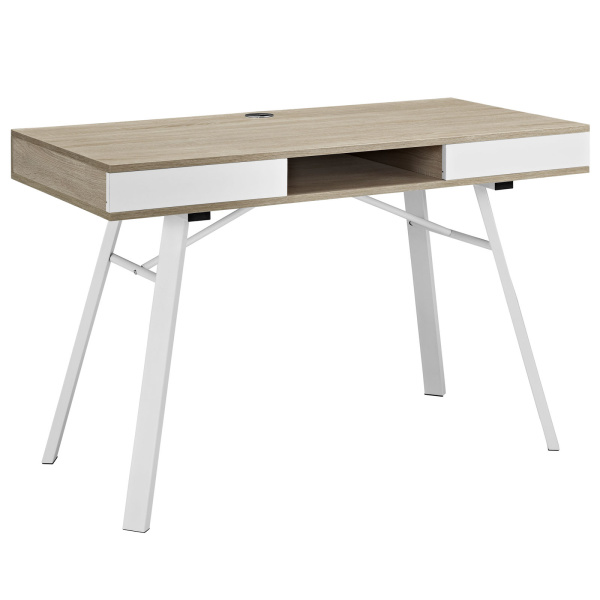 EEI-1322-OAK Stir Office Desk