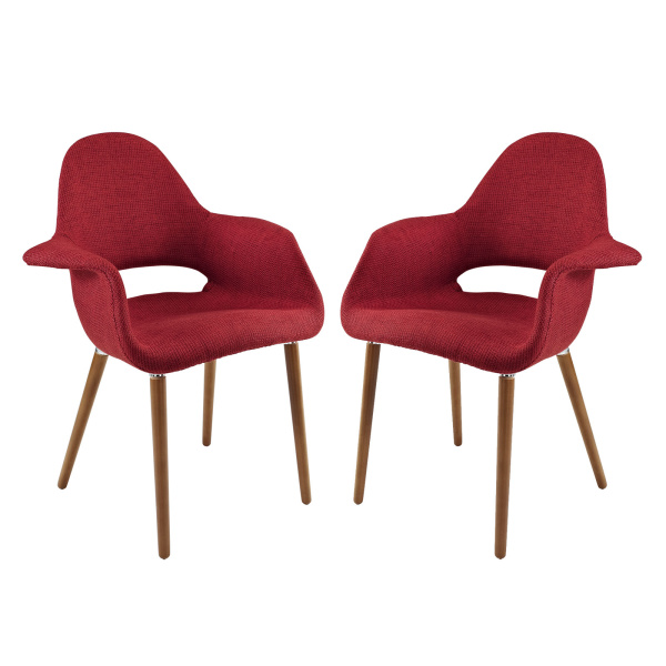 Aegis Dining Armchair Set of 2 Red