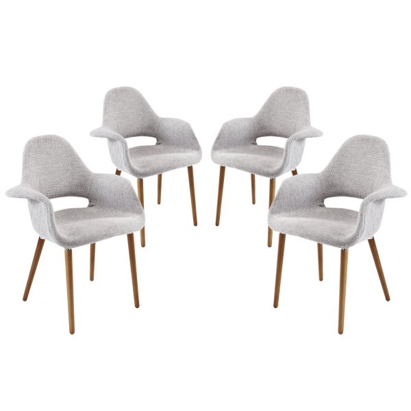 Aegis Dining Armchair Set of 4 Light Gray