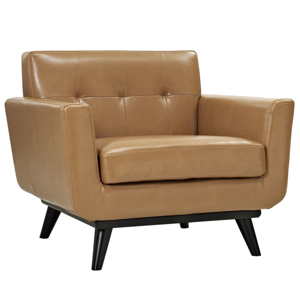 EEI-1336-TAN Engage Bonded Leather Armchair Tan