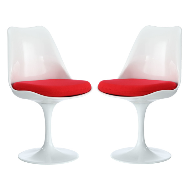 EEI-1343-RED Lippa Dining Side Chair Set of 2 Red