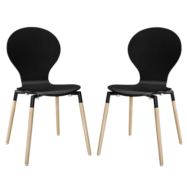 EEI-1368-BLK Path Dining Chair Set of 2 Black