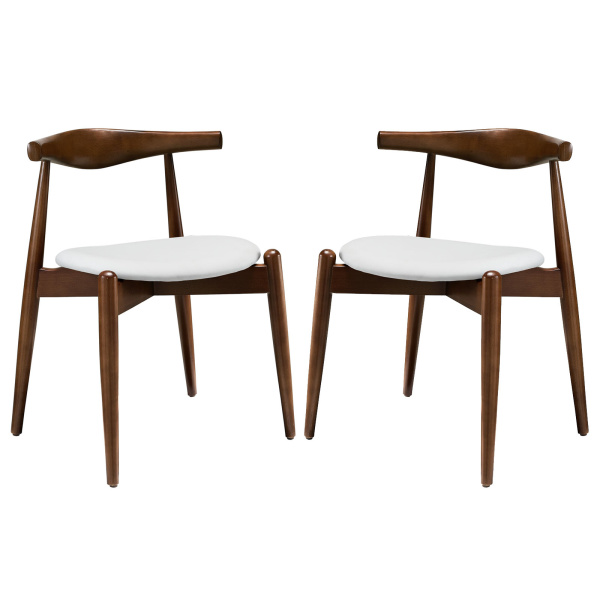 EEI-1377-DWL-WHI Stalwart Dining Side Chairs Set of 2