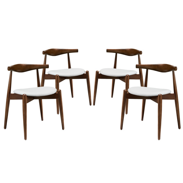 EEI-1378-DWL-WHI Stalwart Dining Side Chairs Set of 4