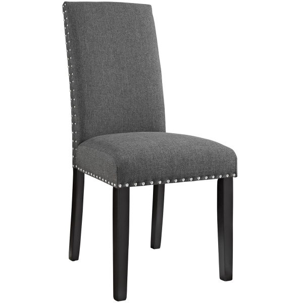 Parcel Dining Fabric Side Chair Gray