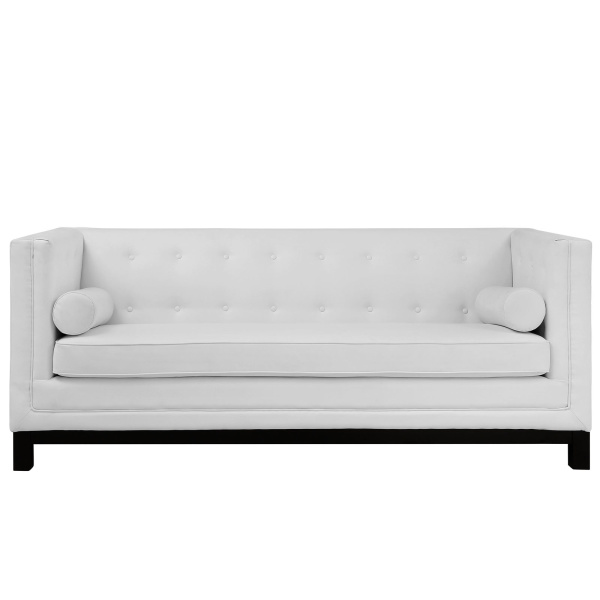 Imperial Bonded Leather Sofa White