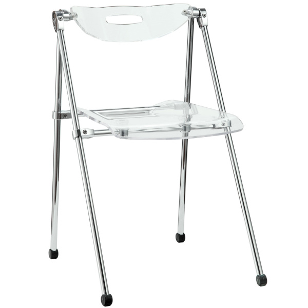 Telescope Folding Chair Clear