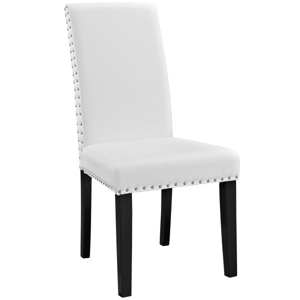 Parcel Dining Vinyl Side Chair White