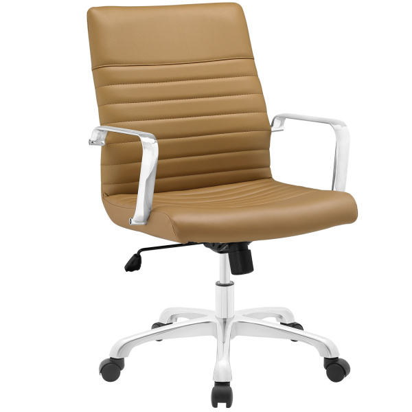 Finesse Mid Back Office Chair Tan
