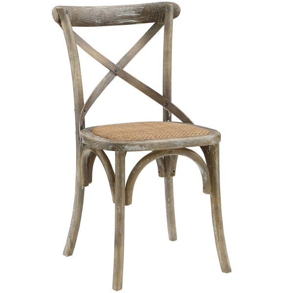 EEI-1541-GRY Gear Dining Side Chair Gray
