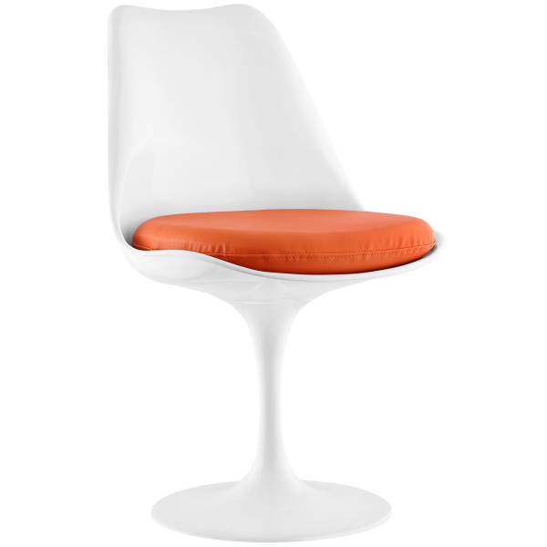 Lippa Dining Vinyl Side Chair Orange