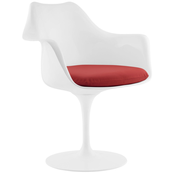 Lippa Dining Vinyl Armchair Red