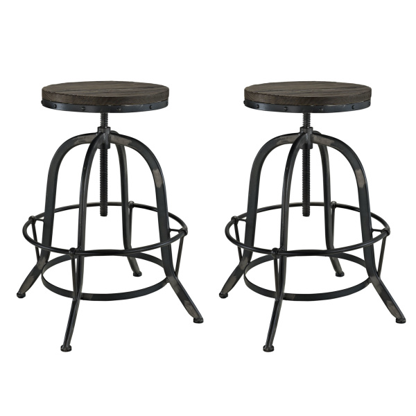 EEI-1603-BLK-SET Collect Bar Stool Set of 2 Black