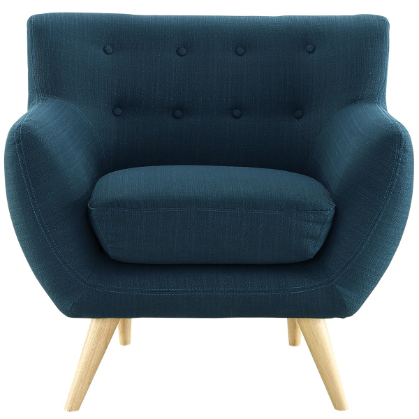 Remark Upholstered Fabric Armchair Azure
