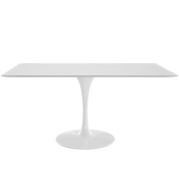 "Lippa 60"" Rectangle Wood Dining Table White"