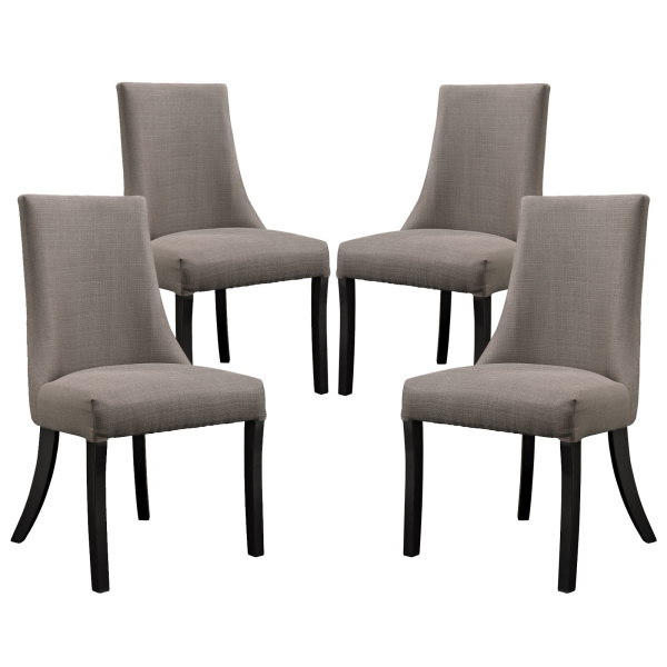 EEI-1677-GRY Reverie Dining Side Chair Set of 4 Gray
