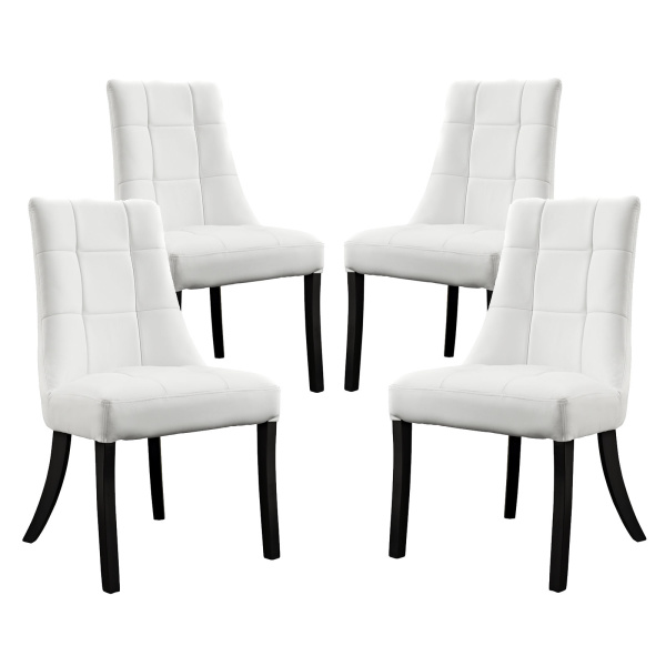Noblesse Vinyl Dining Chair Set of 4 White