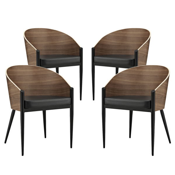 EEI-1683-WAL Cooper Dining Chairs Set of 4 Walnut