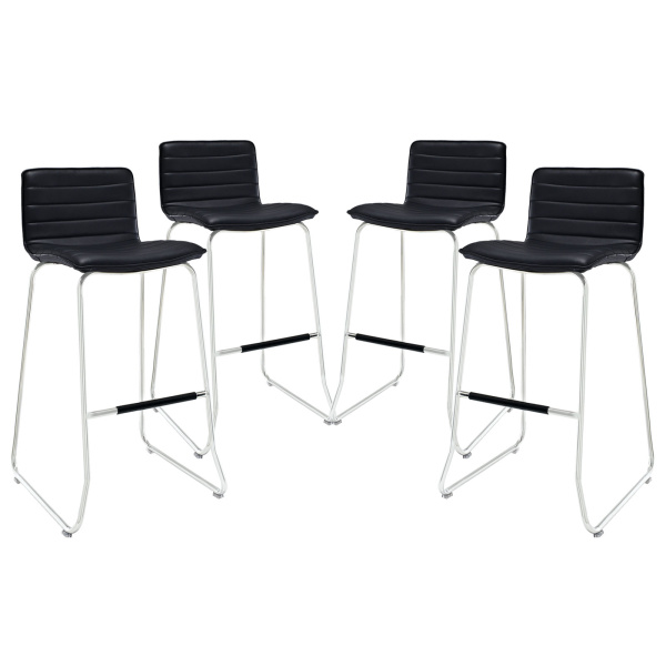 EEI-1687-BLK Dive Bar Stool Set of 4 Black