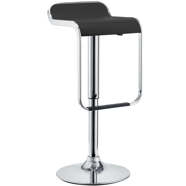 EEI-169-BLK LEM Vinyl Bar Stool Black