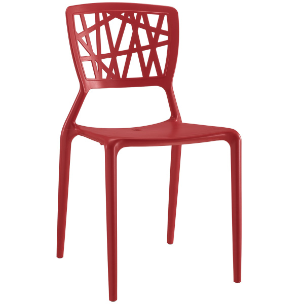 Astro Dining Side Chair Red