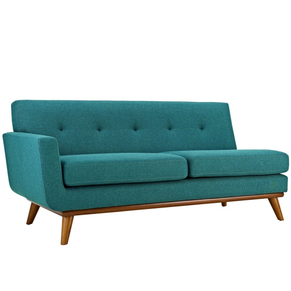 Engage Left-Arm Loveseat Teal