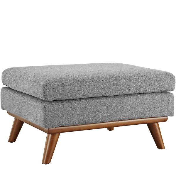 Engage Upholstered Fabric Ottoman Expectation Gray