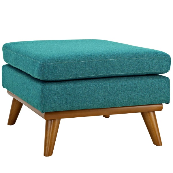 Engage Upholstered Fabric Ottoman Teal