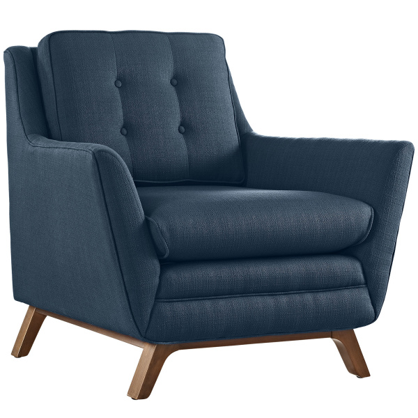 Beguile Upholstered Fabric Armchair Azure