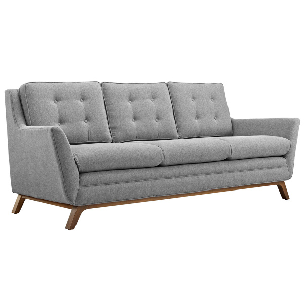 Beguile Upholstered Fabric Sofa Expectation Gray