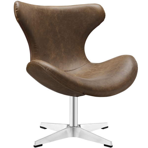 Helm Lounge Chair Brown