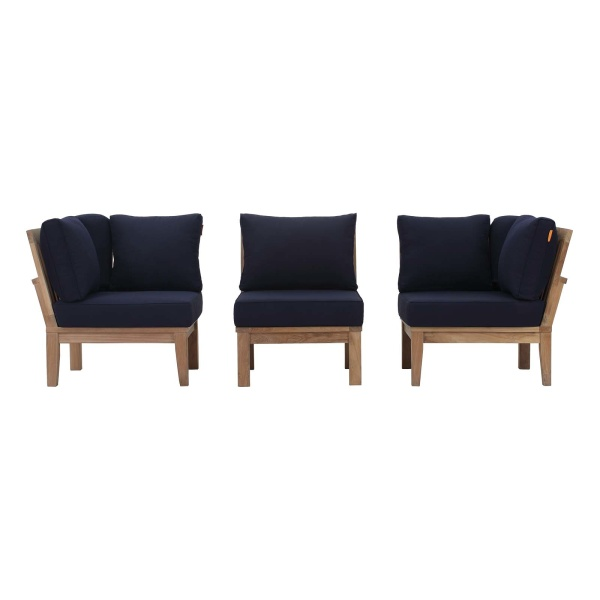 Marina 3 Piece Outdoor Patio Teak Set