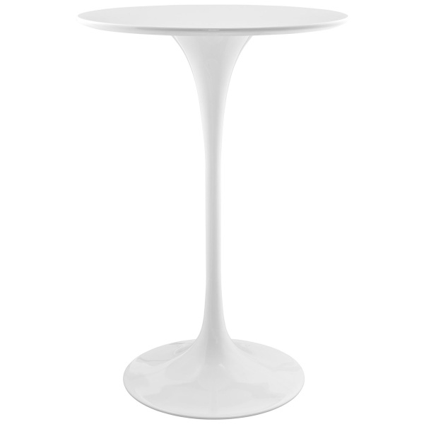 "EEI-1825-WHI Lippa 28"" Round Wood Bar Table White"